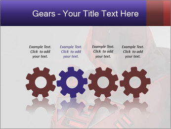 Red Cyborg Robot PowerPoint Template - Slide 48