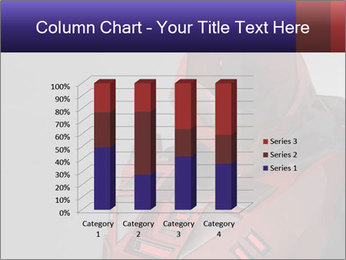 Red Cyborg Robot PowerPoint Template - Slide 50