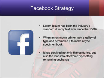 Red Cyborg Robot PowerPoint Templates - Slide 6
