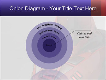 Red Cyborg Robot PowerPoint Template - Slide 61