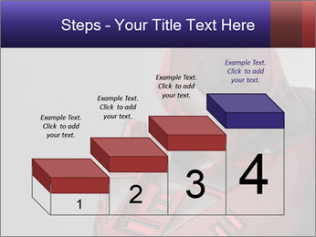 Red Cyborg Robot PowerPoint Template - Slide 64