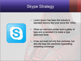 Red Cyborg Robot PowerPoint Template - Slide 8