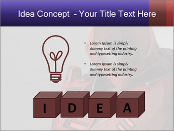 Red Cyborg Robot PowerPoint Template - Slide 80