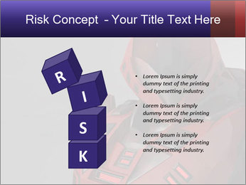 Red Cyborg Robot PowerPoint Template - Slide 81