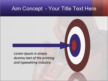 Red Cyborg Robot PowerPoint Template - Slide 83