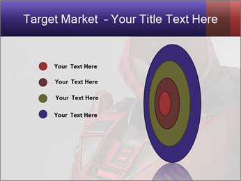 Red Cyborg Robot PowerPoint Template - Slide 84