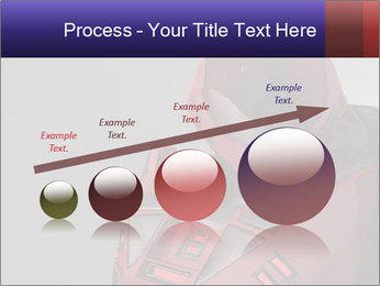 Red Cyborg Robot PowerPoint Template - Slide 87