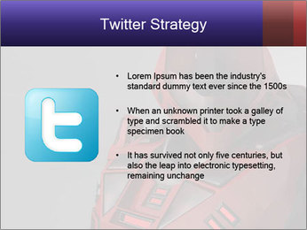 Red Cyborg Robot PowerPoint Template - Slide 9