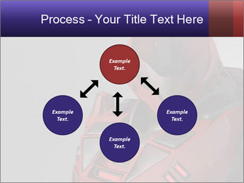 Red Cyborg Robot PowerPoint Template - Slide 91
