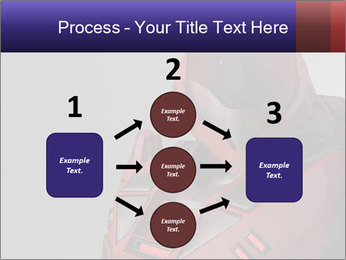 Red Cyborg Robot PowerPoint Template - Slide 92
