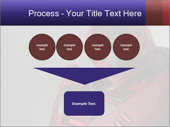 Red Cyborg Robot PowerPoint Template - Slide 93
