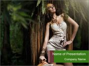 Model in the Forest PowerPoint Templates