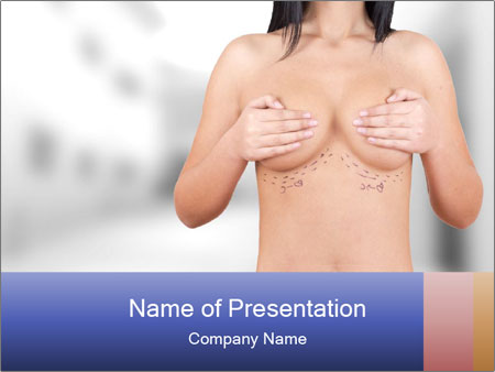 Breasts Plastic Surgery PowerPoint Template