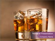 Couple of Rum Glasses PowerPoint Templates