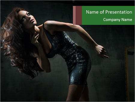 Model Wearing Fashion Dress PowerPoint Templates