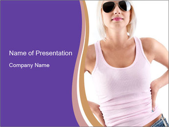 Stylish Summer Wear PowerPoint Templates - Slide 1