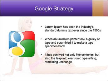 Sitting Woman in Pink Bikini PowerPoint Templates - Slide 10