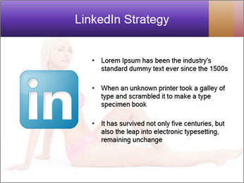 Sitting Woman in Pink Bikini PowerPoint Templates - Slide 12