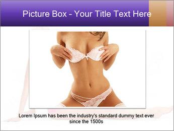 Sitting Woman in Pink Bikini PowerPoint Templates - Slide 16