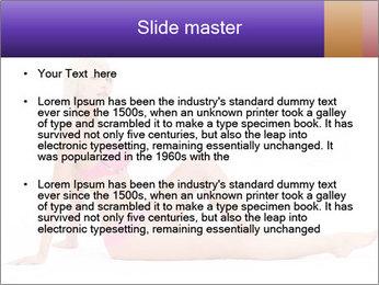 Sitting Woman in Pink Bikini PowerPoint Templates - Slide 2