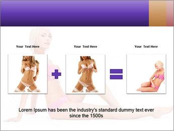 Sitting Woman in Pink Bikini PowerPoint Templates - Slide 22