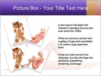 Sitting Woman in Pink Bikini PowerPoint Templates - Slide 23