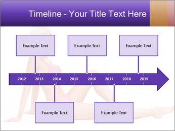 Sitting Woman in Pink Bikini PowerPoint Templates - Slide 28