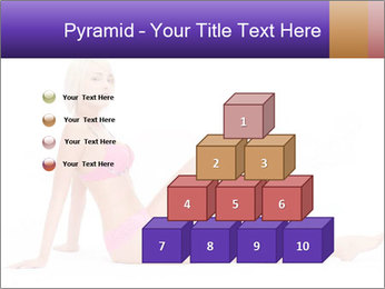 Sitting Woman in Pink Bikini PowerPoint Templates - Slide 31