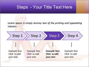 Sitting Woman in Pink Bikini PowerPoint Templates - Slide 4