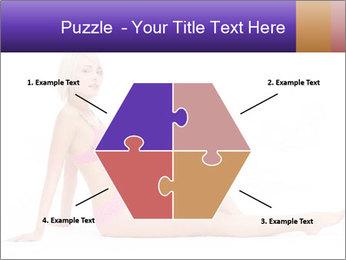 Sitting Woman in Pink Bikini PowerPoint Templates - Slide 40