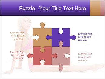 Sitting Woman in Pink Bikini PowerPoint Templates - Slide 43