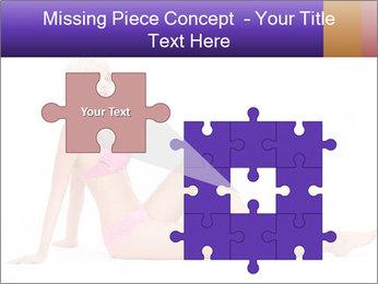 Sitting Woman in Pink Bikini PowerPoint Templates - Slide 45