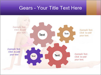 Sitting Woman in Pink Bikini PowerPoint Templates - Slide 47