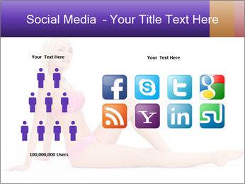 Sitting Woman in Pink Bikini PowerPoint Templates - Slide 5