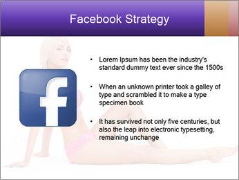 Sitting Woman in Pink Bikini PowerPoint Templates - Slide 6