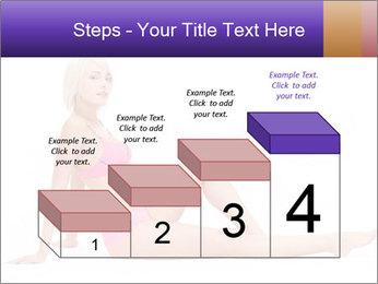 Sitting Woman in Pink Bikini PowerPoint Templates - Slide 64