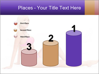 Sitting Woman in Pink Bikini PowerPoint Templates - Slide 65