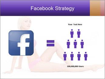 Sitting Woman in Pink Bikini PowerPoint Templates - Slide 7