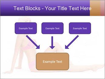 Sitting Woman in Pink Bikini PowerPoint Templates - Slide 70