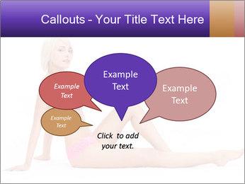 Sitting Woman in Pink Bikini PowerPoint Templates - Slide 73