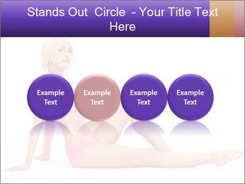 Sitting Woman in Pink Bikini PowerPoint Templates - Slide 76
