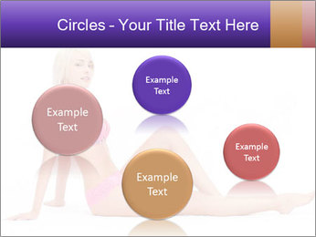 Sitting Woman in Pink Bikini PowerPoint Templates - Slide 77