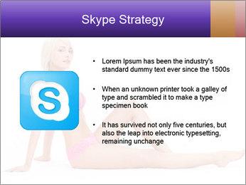 Sitting Woman in Pink Bikini PowerPoint Templates - Slide 8