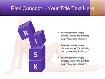 Sitting Woman in Pink Bikini PowerPoint Templates - Slide 81