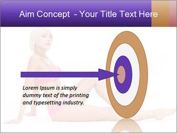 Sitting Woman in Pink Bikini PowerPoint Templates - Slide 83