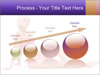 Sitting Woman in Pink Bikini PowerPoint Templates - Slide 87