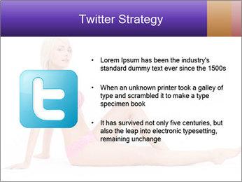 Sitting Woman in Pink Bikini PowerPoint Templates - Slide 9