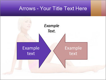 Sitting Woman in Pink Bikini PowerPoint Templates - Slide 90