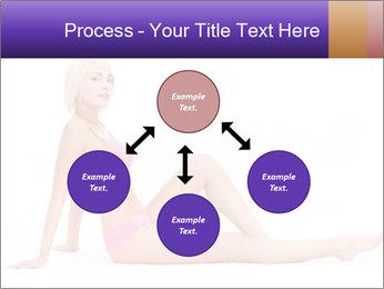 Sitting Woman in Pink Bikini PowerPoint Templates - Slide 91