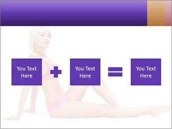Sitting Woman in Pink Bikini PowerPoint Templates - Slide 95